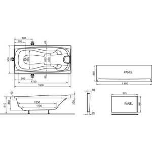 Фронтальная панель Ravak xxl 190 белая (CZ091L0A00) от ТЕХПОРТ