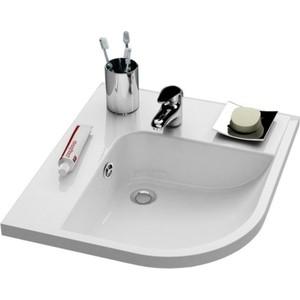 Раковина мебельная Ravak be happy l белая с отверстиями (XJAL1100000) раковина мебельная ravak chrome правая белая с отверстиями xjgp1100000