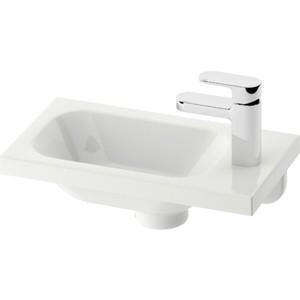 цены Раковина мебельная Ravak chrome правая белая с отверстиями (XJGP1100000)