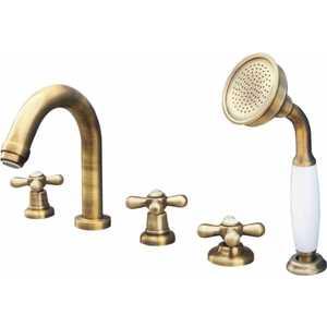 Смеситель для ванны Rav Slezak на 5 отверстий (MK162.5PSM) rav slezak loira lr586 для ванны с душем