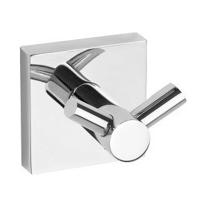 Крючок Bemeta двойной 55х60мм (132106032) крючок двойной tatkraft mega lock на вакуумном шурупе