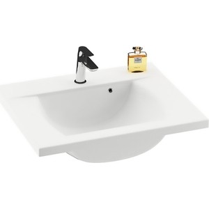 Раковина мебельная Ravak classic 600 белая с отверстиями (XJD01160000) comforty лаура 60 2 белая умывальник quadro 60