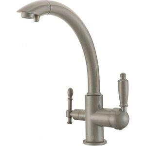 Смеситель для кухни ZorG GraniT Clean water (ZR 314 YF-33 серый беж) weissgauff quadro 575 eco granit серый беж