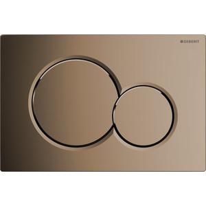 Клавиша смыва Geberit Sigma 01 латунь (115.770.DT.5) кнопка для инсталляции geberit sigma 70 умбра стекло алюминий 115 620 sq 1