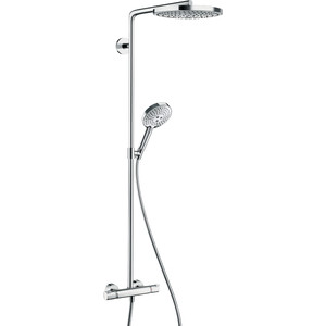 Душевой набор Hansgrohe Raindance select s240 2jet showerpipe с термостатом (27129400) душевой набор hansgrohe raindance select showerpipe 300 27114000