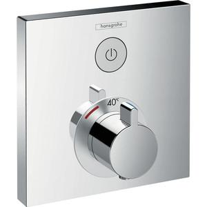 Термостат для душа Hansgrohe Showerselect встроенный с запорным вентилем (15762000) термостат