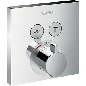 Термостат для ванны Hansgrohe Showerselect встроенный с переключателем (15763000) термостат для ванны hansgrohe showerselect встроенный с переключателем 15763000