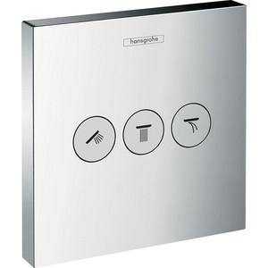 Переключатель внешняя часть Hansgrohe Showerselect на 3 потребителя (15764000) переключатель внешняя часть hansgrohe showerselect на 3 потребителя 15764000