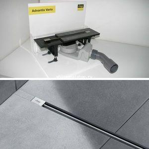 Душевой лоток Viega Advantix Vario 1200 мм с глянцевой вставкой 686277+686291 (704360)