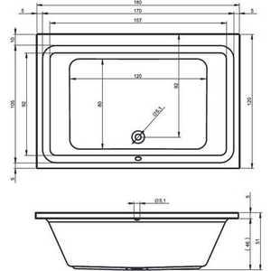 Акриловая ванна Riho Castello 180x120x49 от ТЕХПОРТ
