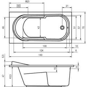 Акриловая ванна Riho Columbia 140x70x49 от ТЕХПОРТ