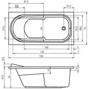Акриловая ванна Riho Columbia 150x75x45 от ТЕХПОРТ