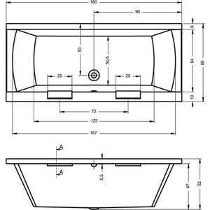 Акриловая ванна Riho Modena 180x80x49 от ТЕХПОРТ