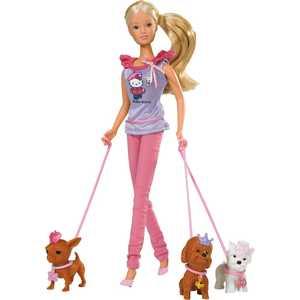 Кукла Simba Steffi Love Штеффи с собачками Hello Kitty + аксессуары 5732786