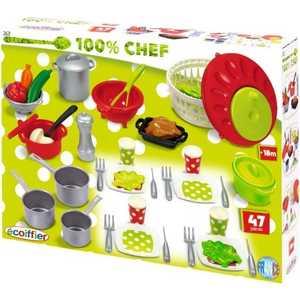 Ecoiffier Набор посуды 100 процентный Chef 2621