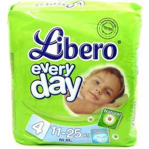 "Подгузники Libero ""Every Day"" XL 11-25кг 16шт Standart Pack 7322540571288"