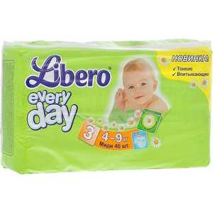 Подгузники Libero Every Day M 4-9кг 46шт Econom Pack 7322540613483 cbd40d45d17