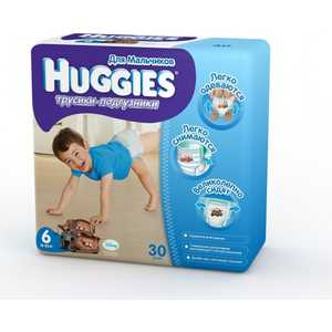 Трусики-подгузники Huggies ''Jumbo'' 16-22кг 30шт для мальчиков 5029053544045