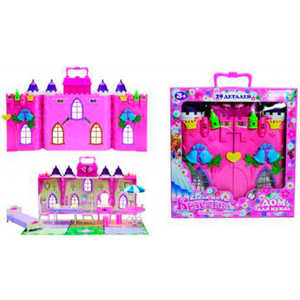 Замок 1Toy для кукол Колокольчик с мебелью, 29 деталей Т56583 1toy с мебелью 187 деталей красотка