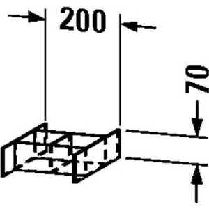 Разделитель Duravit Esplanade для ящика 20x37.3x7h (ES992200000)