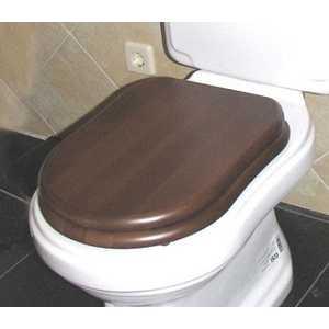 GSI Old antea сиденье для унитаза softclose орех/хром (MS56NC)