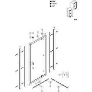 Душевая дверь Huppe X1 90х190 см (120703.069.321) / (140703.069.321) от ТЕХПОРТ