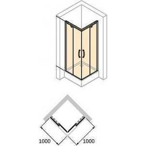 Душевой уголок Huppe X1 100х100х190 см (120104.069.321) / (140104.069.321)