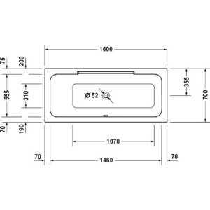 Акриловая ванна Duravit Durastyle 170x75 см SX белая (700296000000000) от ТЕХПОРТ