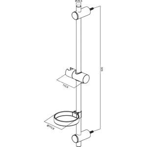 Душевая штанга Am.Pm Bliss L (F0353000) от ТЕХПОРТ