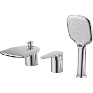 Смеситель для ванны Lemark Статус встраиваемый на 3 отверстия с аксессуарами (LM4445C) смеситель для ванны lemark plus advance с коротким изливом с аксессуарами lm1202c