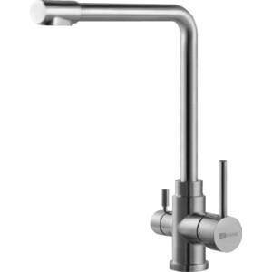 Смеситель для кухни Lemark Эксперт с подключением к фильтру питьевой воды сталь (LM5060S) смеситель для кухни с каналом для питьевой воды olive s balear 13440bl