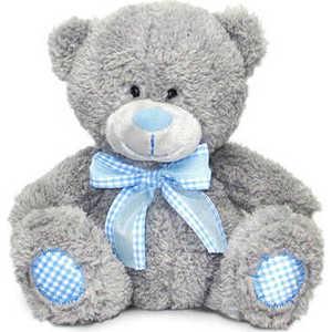 Lava Медведь с голубым бантом 24 см (музыкальный) Л8702