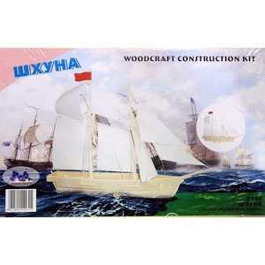 Модель деревянная Wooden Toys ''Шхуна'' сборная P150