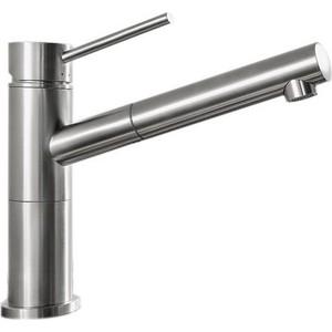 Смеситель Blanco Alta-s compact полированная сталь (517182)  смеситель alta s compact chrome rock grey 518809 blanco