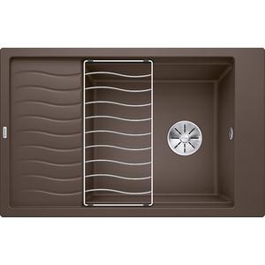 Мойка кухонная Blanco Elon xl 6 s кофе с клапаном-автоматом (518744) мойка blanco elon xl 6 s silgranit 518744 кофе размер шхд 78см х 50см