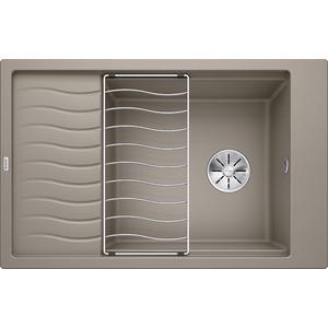 Мойка кухонная Blanco Elon xl 6 s серый беж с клапаном-автоматом (518743) мойка elon xl 6 s tartufo 518743 blanco