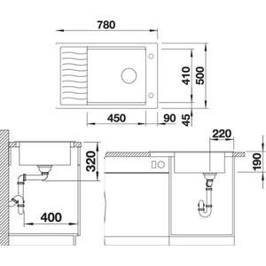 Мойка кухонная Blanco Elon xl 6 s шампань с клапаном-автоматом (518741) от ТЕХПОРТ