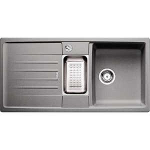 Мойка кухонная Blanco Lexa 6 s серый беж с клапаном-автоматом (517337) blanco lexa 6 s чаша справа жемчужный