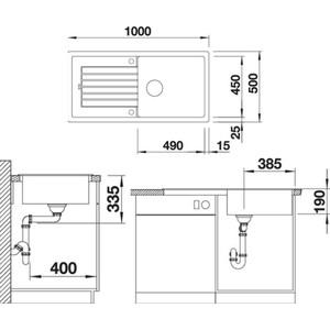 Мойка кухонная Blanco Zia xl 6s алюметаллик (517569) от ТЕХПОРТ