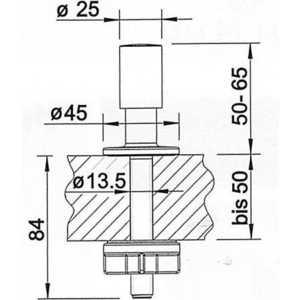 Ручка Blanco клапана-автомата круглая (222115)