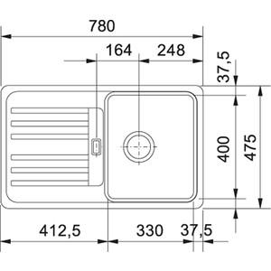 Мойка кухонна Franke Efg 614-78 обор оникс (114.0263.462) от ТЕХПОРТ