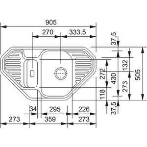 Мойка кухонная Franke Efg 682e экс угл бел. (114.0185.112) от ТЕХПОРТ