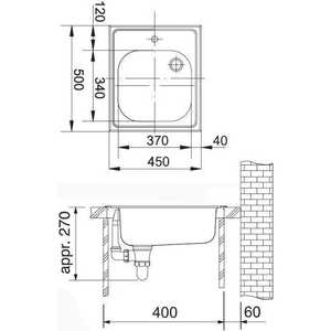 Мойка кухонная Franke Etx 610-45 1.5 б/пер отв. см (101.0030.384) от ТЕХПОРТ