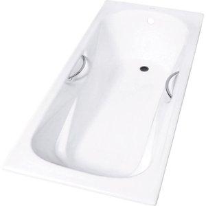 Чугунная ванна Aqualux 150x75 белая с отверстиями под ручки (ZYA 9-2)