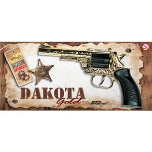 Edison Giocattoli Пистолет Dakota Metall Gold Western 0162/56