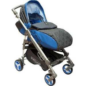 Коляска трость Babylux ''Carita'' (синий) четырехколесная 205S