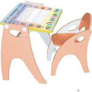 Набор мебели Интехпроект ''Части света'' парта-мольберт и стульчик (персиковый)