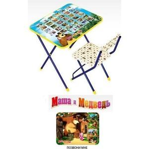 Набор мебели Ника Маша и медведь стол и стул с клеенкой (позвони мне) КП2/6 детский столик nika маша и медведь ку1 6 позвони мне
