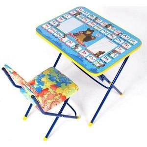 Набор мебели Ника Маша и медведь стол-парта и мягкий стул (азбука) КУ1/2 столы и стулья ника набор мебели маша и медведь стол парта мягкий стул