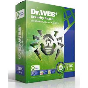 Программное обеспечение Dr.Web Security Space Pro 3 ПК/ 1 год (AHW-B-12M-3-A2)